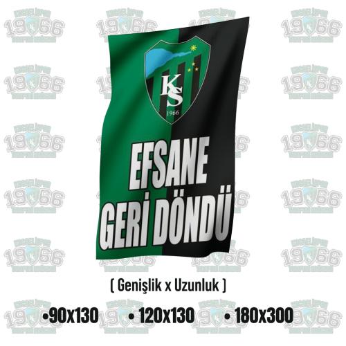 Efsane Geri Döndü Kocaelispor Bayrak - MODEL 1