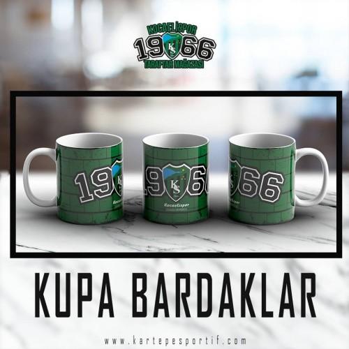1966 Baskılı Yeşil Kupa Bardak