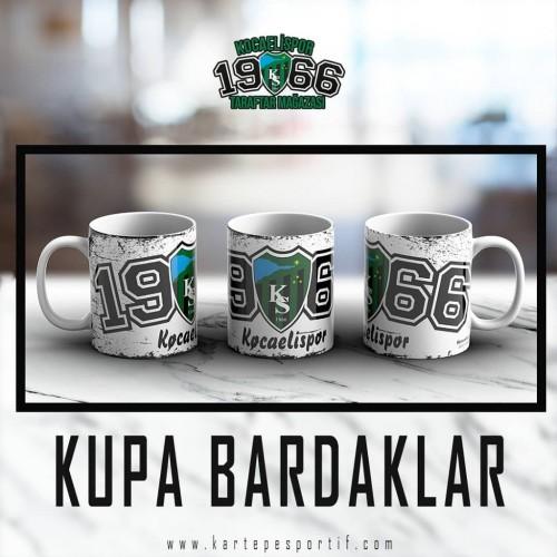 1966 Baskılı Beyaz Kupa Bardak